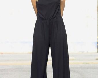 891a4d470b Black Jumpsuit pants summer beach women stripes