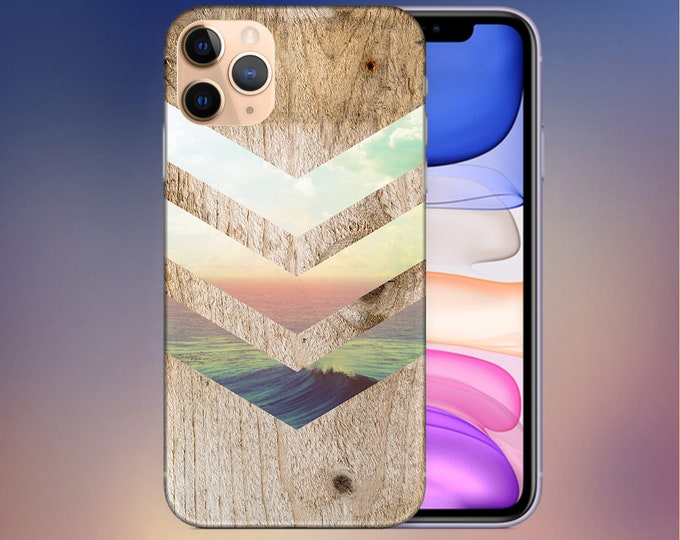 Featured listing image: California Skies x Ocean Wood Phone Case - Galaxy s10 Case - iPhone 11 Case - iPhone 8 Plus Case - Google Pixel 4 Phone Case - Nature Case