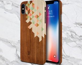 Tough Case iPhone X Tropical Beach Rock Cove Chevron Brown Wood Phone Case Nature Galaxy s10 Case Samsung Note 9 Case Escape iPhone X Plus