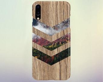Fall Foliage Forest Chevron Brown Wood Phone Case Nature iPhone 13 Case, Tough Case iPhone 11, Samsung s7 edge Case Escape iPhone 8s Plus