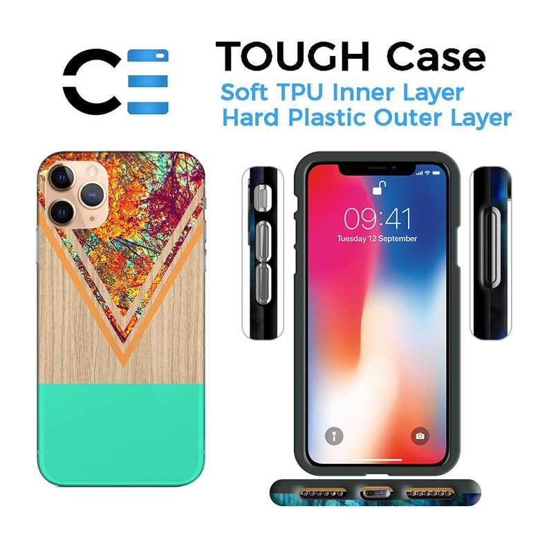 CASE ESCAPE iPhone 8 Plus Changing Fall Leaves x Tree Wood Case iPhone 11 Note 9 Protective iPhone Case Galaxy s9 Samsung Galaxy Case