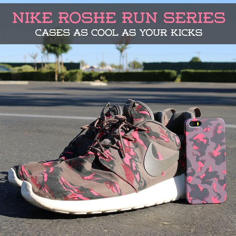d6ced1f29c30 Nike Roshe Run Pink Camo Case for iPhone Xs iPhone XsS 5C