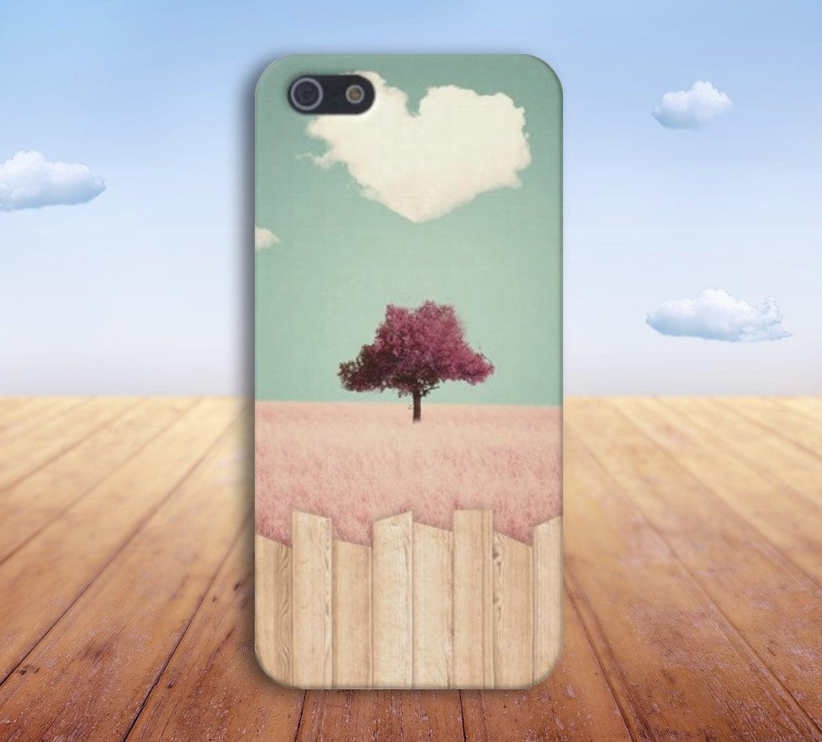 Heart Cloud x Pink Grass x Cartoon Case for iPhone 6 6 Plus