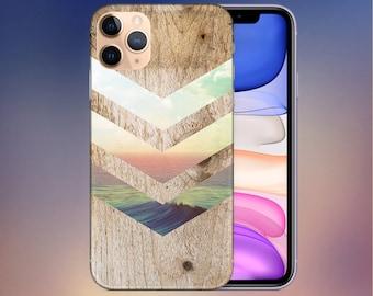 California Skies x Ocean Wood Phone Case - iPhone 13 Case - iPhone 11 Case - iPhone 8 Plus Case - Google Pixel 4 Phone Case - Nature Case