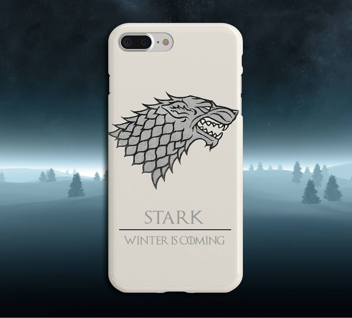 on sale a1954 0496b Stark x Winter is Coming x Game of Thrones Phone Case iPhone Xs, iPhone 8  Plus, Tough iPhone Case, Galaxy s10, Samsung Galaxy Case, Jon Snow
