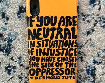 Black Lives Matter x Yellow Desmond Tutu Phone Case - Galaxy s20 Case - iPhone 11 Case - iPhone 8 Plus Case - Google Pixel 4 Phone Case
