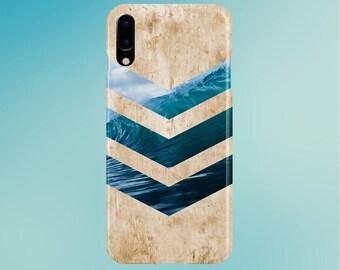 California Wave Surf Beach Chevron Light Wood Phone Case, iPhone X, Tough iPhone X Case, Galaxy s9, Samsung Galaxy Case, Note 9, CASE ESCAPE