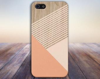 Peach Champagne Pink Striped Wood Phone Case,iPhone X, iPhone 7 Plus, Tough iPhone Case, Galaxy s9, Samsung Galaxy Case, Note 9, CASE ESCAPE