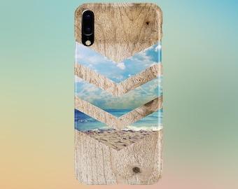 Beach Waves Sand Sunny California Chevron Wood Phone Case, iPhone 11, Tough iPhone 11, iPhone 13, Samsung Galaxy Case, Note 10, CASE ESCAPE