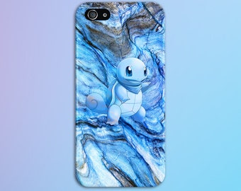 Squirtle Blue Marble x Stone Phone Case Texture iPhone 6 iPhone 6 Plus Tough iPhone Case iPhone 13 Samsung Galaxy Case Handmade CASE ESCAPE