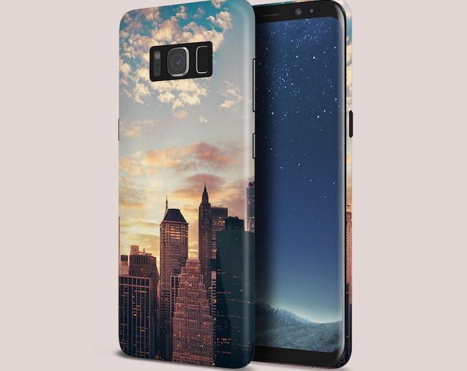 Featured listing image: Rose Gold Sunrise x New York City Phone Case - Google Pixel II Phone Case - Protective Slim Phone Case - Galaxy s9 Phone Case - Case Escape