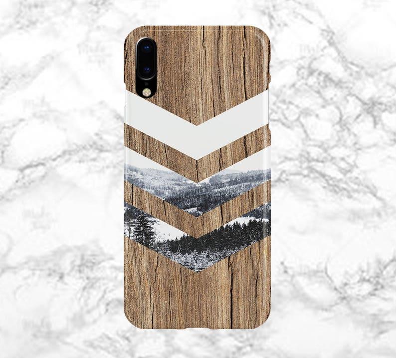 c32ffb5bf09 Black White Snow Chevron Wood Phone Case Nature Galaxy