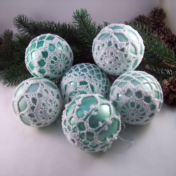 image 0 - Duck Egg Blue Christmas Decorations
