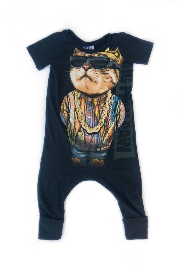 Short sleeve Cat romper