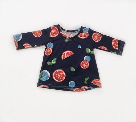 Navy citrus 3/4 sleeve Shirt