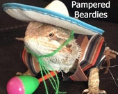 Mexican Fiesta Costume for Bearded Dragons, Reptiles, and Small Animals Three Sizes available