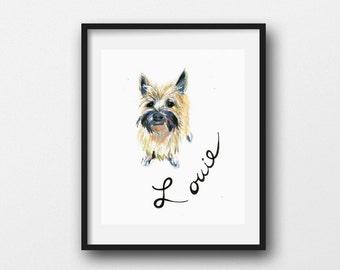 Custom Pet Sketch Renderings-for Pet Lover