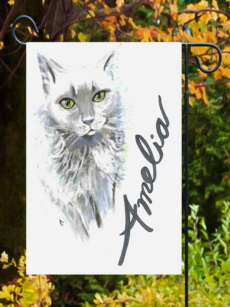 Pet Portrait Flag-And Colorful Custom Pet Rendering From Your image 0