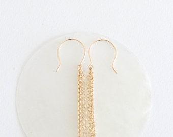 Celestial Earrings // 14k Gold-Filled Chain Earrings