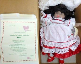 "Chris Miller Pittsburgh Originals Limited Edition Doll ""Tina"" HSN-547564 w/COA"