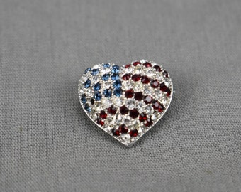 Victoria Wieck Beverly Hills Flag Heart Pin with Box