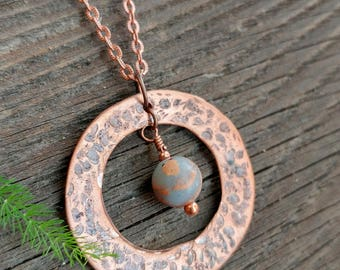 Hammered Copper Necklace