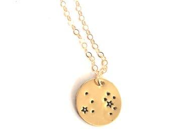 Leo, Leo Necklace, Constellation Necklace, Zodiac Necklace