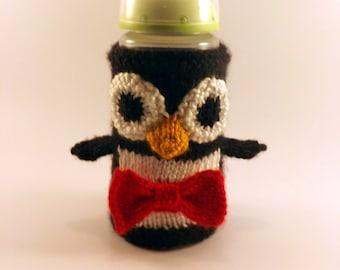 Penguin Bottle Cover CROCHET Pattern \u2022 Vintage 1960s \u2022 RARE Bottle Cover \u2022 near Mad Men era \u2022 Penguin Pattern \u2022 Watermarked PDF Only