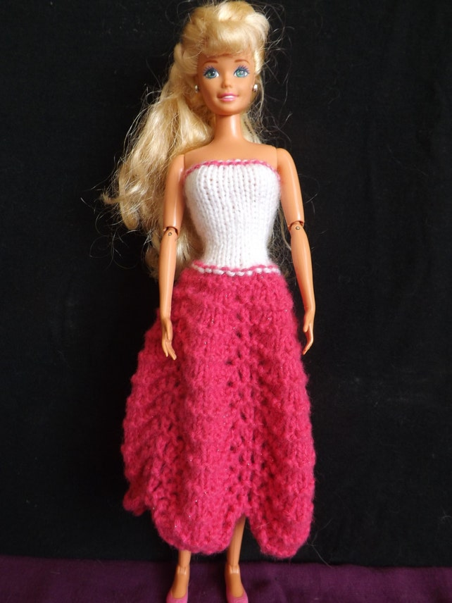 Pattern Knitted Barbie Clothes Barbie Knitting Patterns Etsy