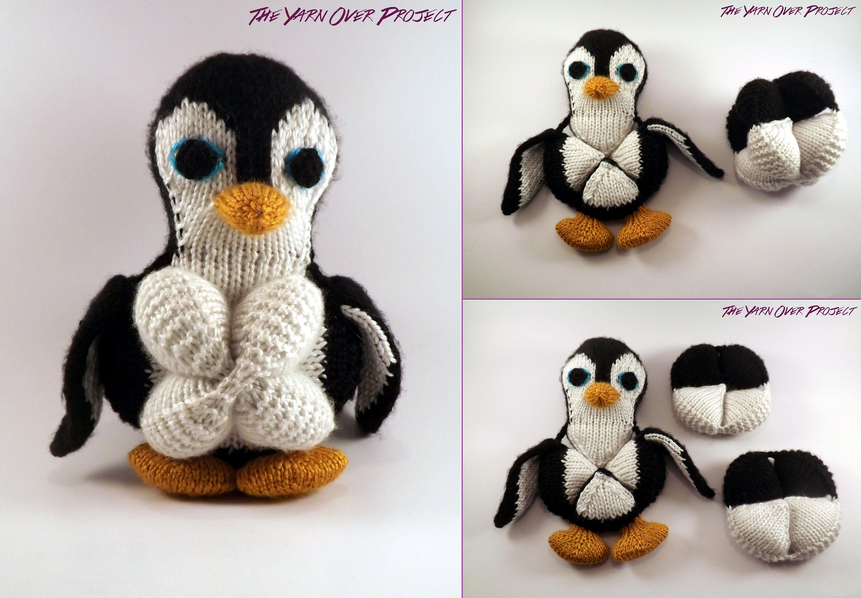 Hand-Knit Penguin Amish Ball Puzzle Knit Penguin Amigurumi | Etsy