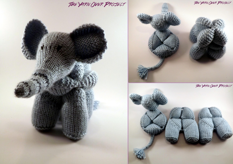 Hand-Knit Elephant Amish Ball Puzzle Knit Elephant Amigurumi | Etsy