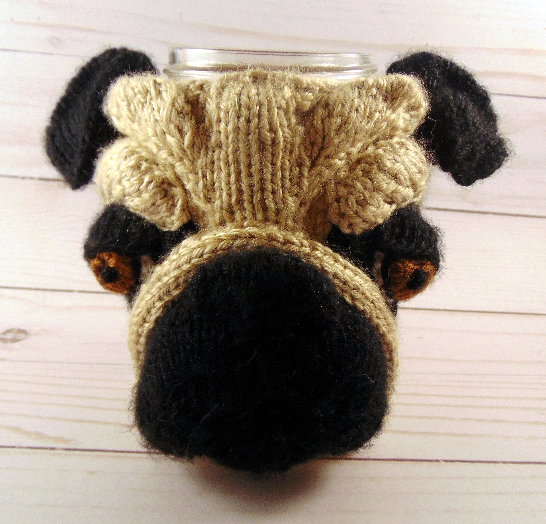 Knitted Pug Cozy Pattern Knit Pug Pattern Pug Pattern | Etsy