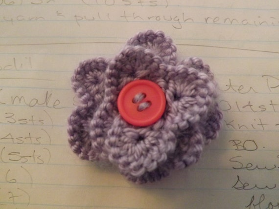 Patterns Knitted Flowers Flower Patterns Knitted Flower Etsy