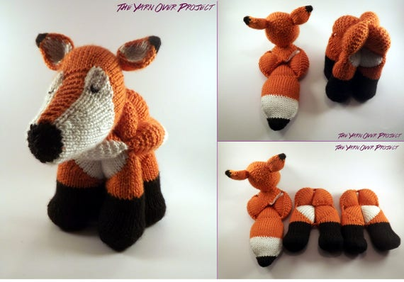 Amish Puzzle Ball Instructions.Hand Knit Fox Amish Ball Puzzle Knit Fox Amigurumi For Baby Etsy