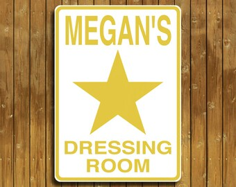 Personalized Dressing Room Sign