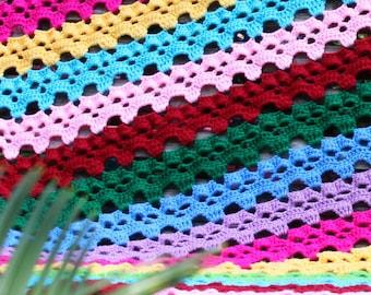 Skulls in a Row Afghan - Crochet PDF Pattern digital download