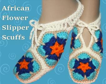 African Flower Slipper Scuffs