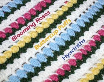April Flowers in Snow Afghan Crochet Pattern Download