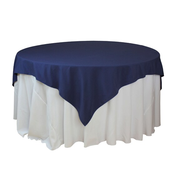 Bon 85 X 85 Inches Navy Blue Table Overlays Square Navy Blue