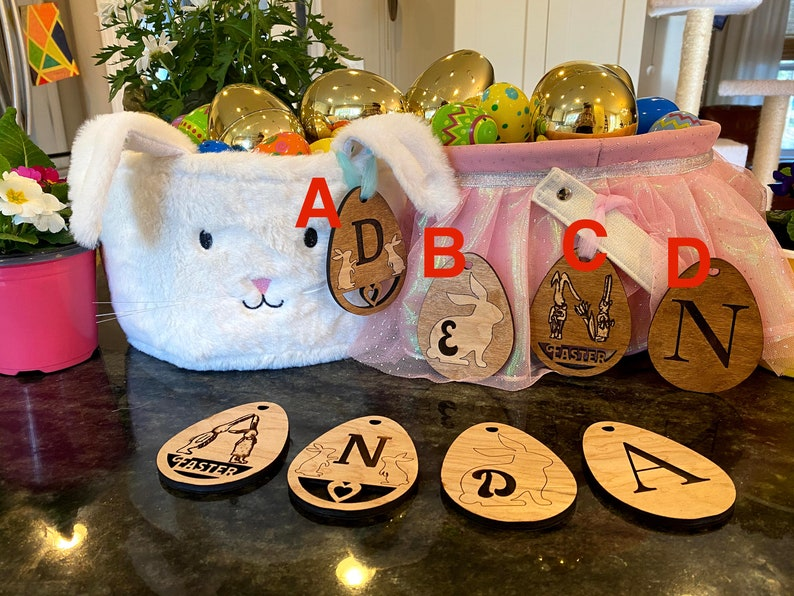 Custom Easter Tag Personalized Easter Basket Tag Personalized Easter Basket Custom Easter Tag Easter Gift Easter Name Tag