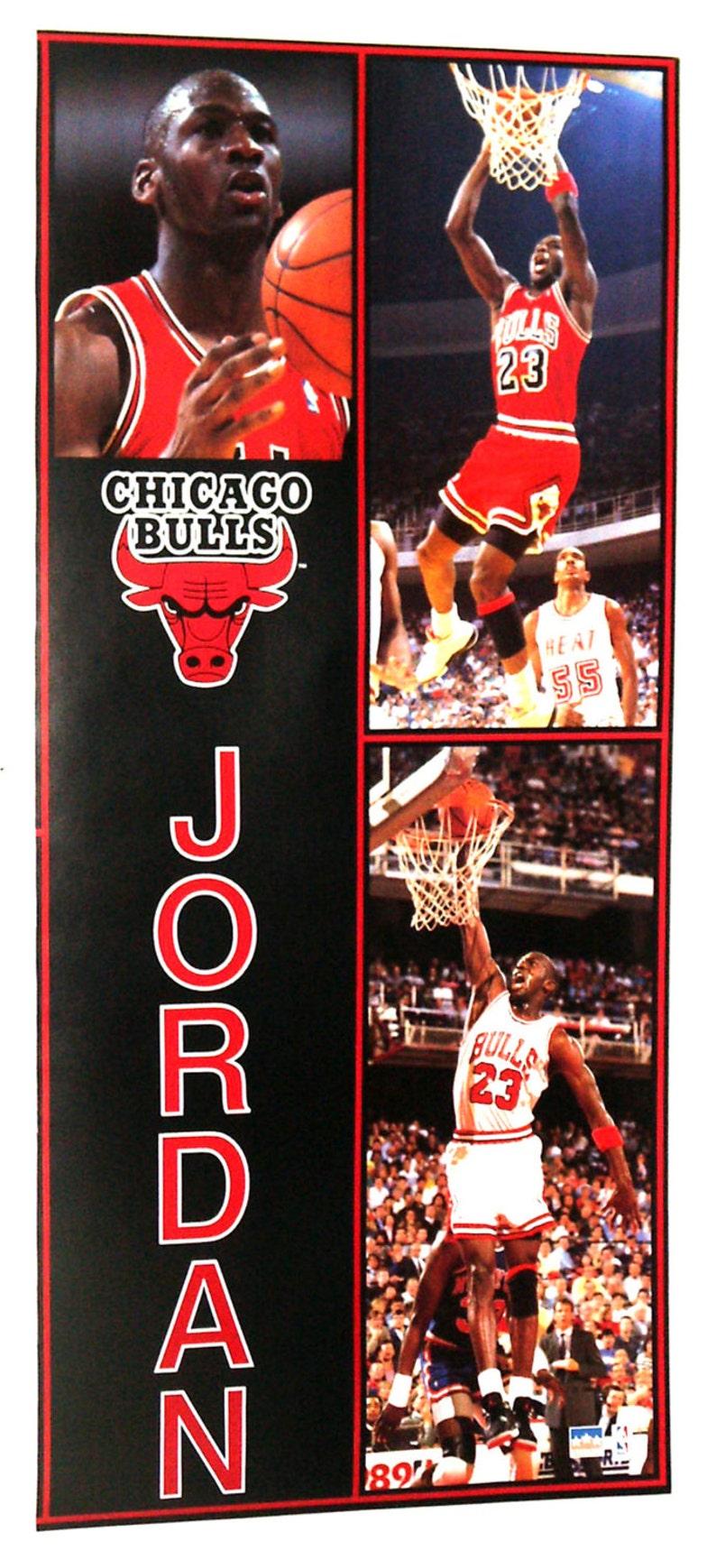 bas prix 036f1 3f831 MICHAEL JORDAN porte affiche de taille du début des années 90 Chicago Bulls  NBA Vintage et Rare !!
