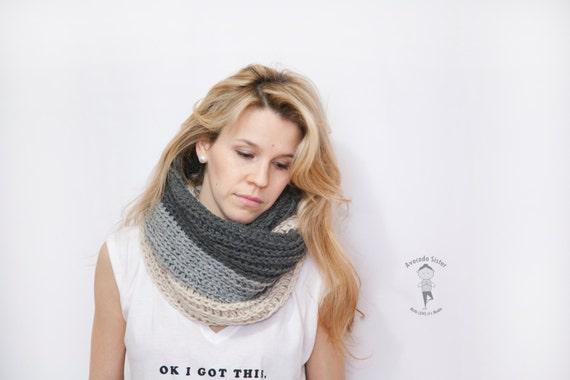 Ombre stricken Haube Schal Infinity Haube Schal stricken | Etsy