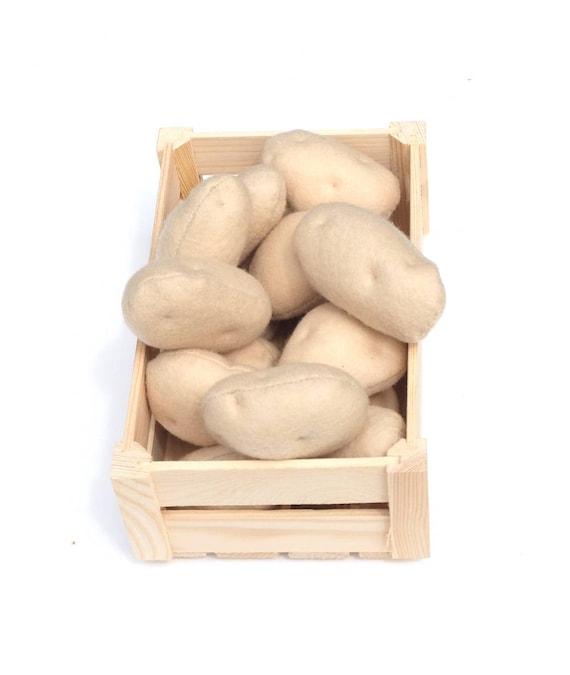 Feutre pomme de terre du jardin les agriculteurs marché semblant nourriture feutre légumes pleine grandeur Montessori jouet légumes farcis pour enfants fruitier