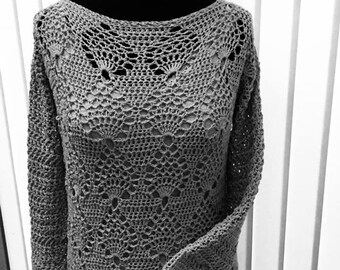 Crochet pattern Sweater Alicia
