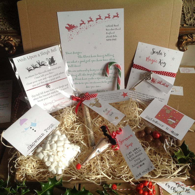 Personalised with your childs name Reindeer food christmas eve box filler