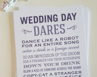 Wedding Dares Cards (pack of 5)
