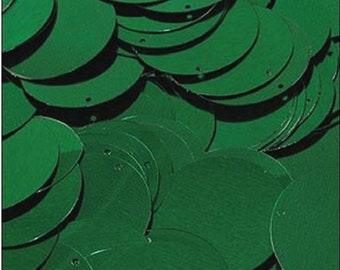 Flat Sequins Sewing Crafts Round Flat Sequins Sequin Discs Green Pack of 250 Made in UK Loose Sequins 24 mm