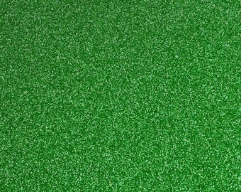 FINE glitter fabric sheet. Green A4 sheet. JR09145