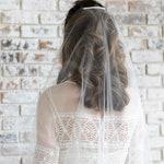 Minimalist wedding veil, barely there veil, minimal veil with comb, sheer veil sheer wedding veil simple veil raw edge veil single tier veil