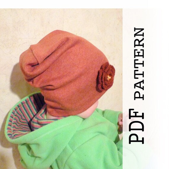 Baby Slouchy Beanie Pattern PDF sewing pattern baby Baby  a44f160bd17